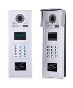 Entry phone with color camera and LCD