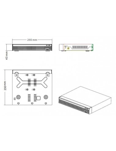 AHD recorders 5MP 4 channels