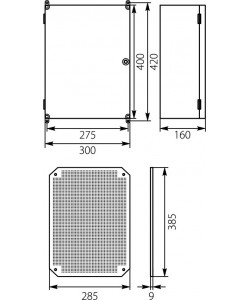 Plastic enclosure 400x275x160 IP65