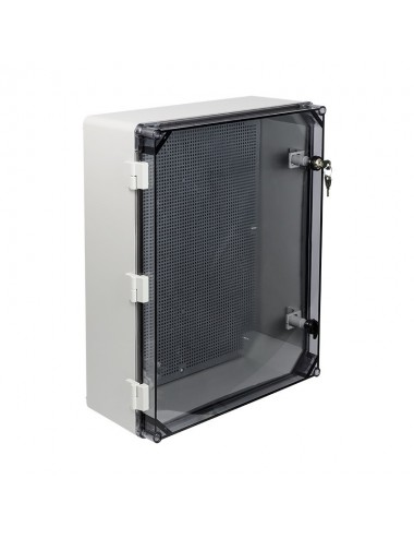 Plastic enclosure 500x375x179 transparent IP65