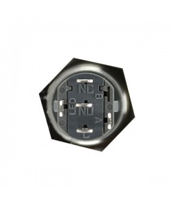 copy of Exit button with light stainless steel