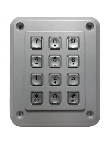 12 button keypad, waterproof and vandal safe, reader input WIEGAND, Local bus - output