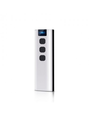 Remote control with 3 buttons, with wall bracket