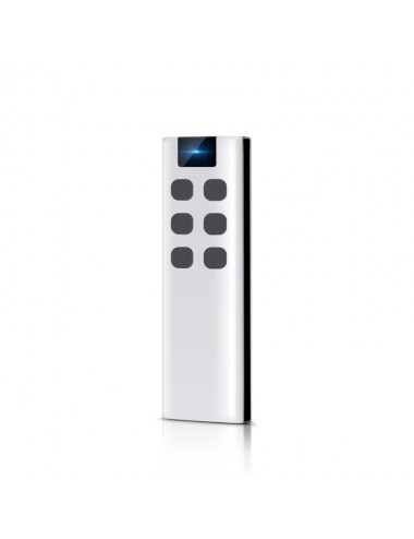 Remote control with 6 buttons, with wall bracket