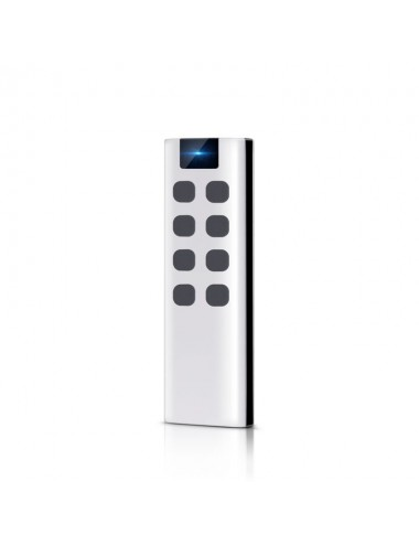 Remote control with 8 buttons, with wall bracket