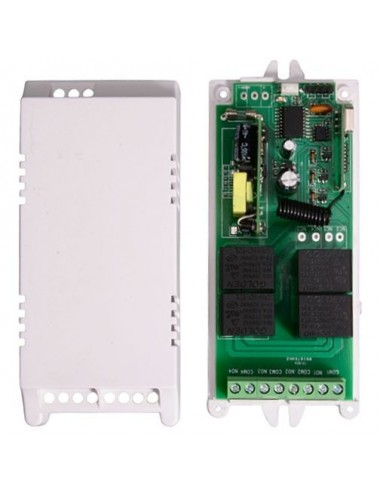 Remote control receiver for 230VAC - 4 channels