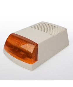 Siren outdoors in box of lights 120db