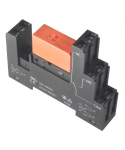 Relay 12V DIN-rail contact set for 230VAC