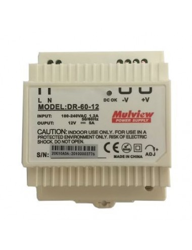 Power supply 12V 5A DIN rail