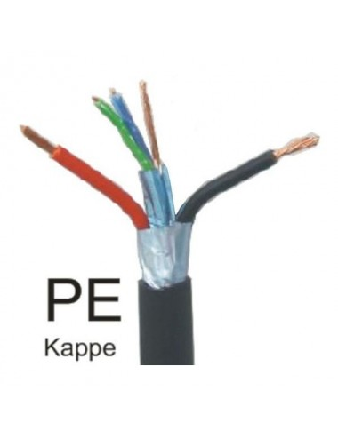 RS485 BUS cable, 1 data set, black PE outer shield