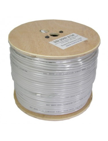RG59 white coaxial cable, 250m - 20002134