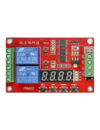 Universal double timer with 18 functions