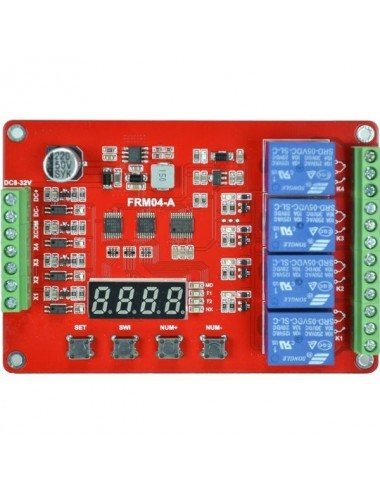 4 channel timer with 18 functions