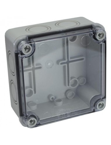 Plastic enclosure transparent