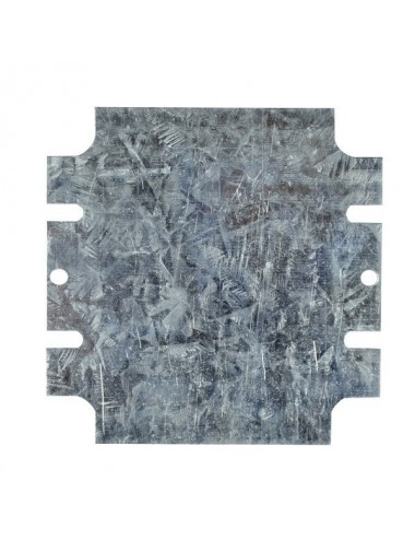 Mounting plate in metal for plastic box model nr. 4026.0080